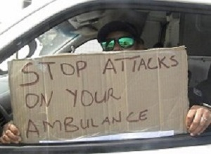 'Don't attack us!' EMS staff plead