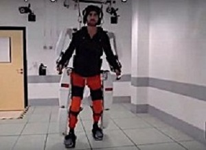 AI-driven exoskeleton lets quadriplegic man walk again